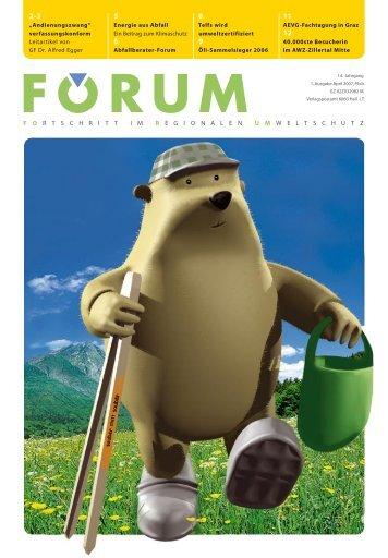Forum 03/2007.indd - Abfallwirtschaft Tirol Mitte