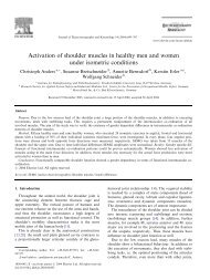 Activation of shoulder muscles in healthy men and - BfMC ...