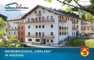 """MEHRZWECKHAUS """"EINKLANG"""" IN GOLDEGG - Salzburg Wohnbau"""