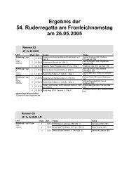 Ergebnis der 54. Ruderregatta am Fronleichnamstag am 26.05.2005
