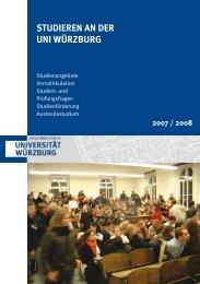 STUDIEREN AN DER UNI WÜRZBURG - Universität Würzburg