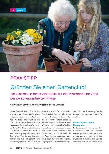 Gründen Sie einen Gartenclub! - Kuratorium Deutsche Altershilfe