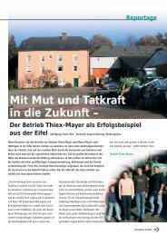 Mit Mut und Tatkraft in die Zukunft – Der Betrieb Thiex-Mayer ... - DSV