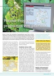 Phoma-Prognose - DSV