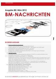 März 2012 BM-NACHRICHTEN IN - Bundesverband Mediation eV