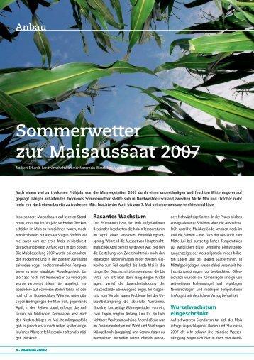 Sommerwetter zur Maisaussaat 2007 - DSV