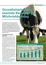 Grundfutterleistung – zentrale Kennzahl der Milchviehhaltung - DSV