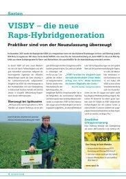 VISBY – die neue Raps-Hybridgeneration - DSV