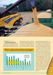 Weizen oder Mais? Mit den richtigen Sorten keine Frage der ... - DSV