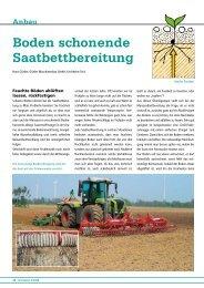 Boden schonende Saatbettbereitung - DSV