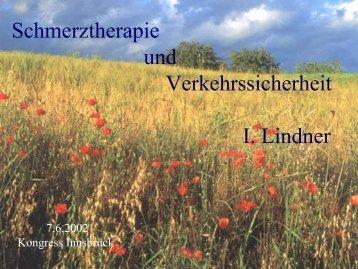 Schmerztherapie und Verkehrssicherheit I. Lindner