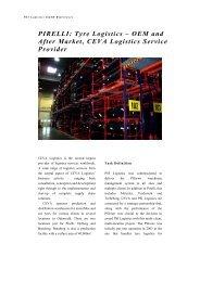 PIRELLI: Tyre Logistics - PSI Logistics GmbH