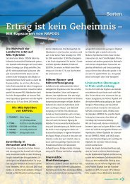 Ertrag ist kein Geheimnis - Deutsche Saatveredelung AG