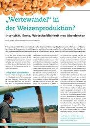 """Weizen """"Wertewandel"""" in der Weizenproduktion? - DSV"""