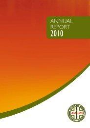 Annual Report 2010 - ACEM