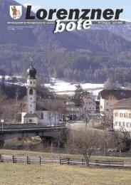 Lorenzner Bote - Ausgabe April 2006 (1,96 MB
