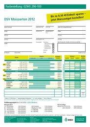 DSV Maissorten 2012 Bis zu 8,50 €/Einheit sparen – jetzt ...