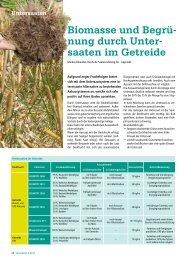 Biomasse und Begrü nung durch Unter saaten im Getreide - DSV