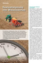 Saatzeiteignung von Weizensorten - DSV