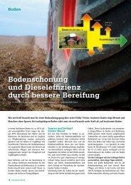 Bodenschonung und Dieseleffi zienz durch bessere Bereifung - DSV