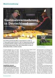 Saatmaisvermehrung in Deutschland - DSV