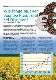 Wie lange hält der positive Preistrend bei Ölsaaten? - DSV