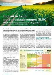 Indirekte Land- nutzungs änderungen (iLUC) - Ufop