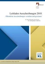 Leitfaden Ausschreibungen 2010 - Dtad