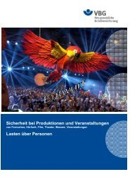 Sicherheit bei Produktionen und Veranstaltungen Lasten ... - DTHG