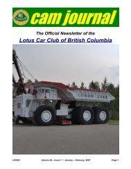Volume 28, Issue 01 Jan-Feb - Lotus Car Club of British Columbia