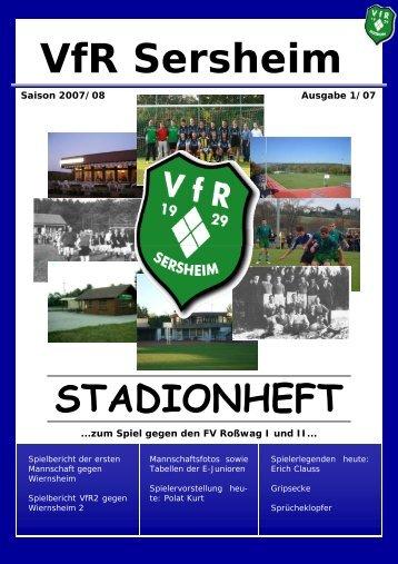 stadionheft - VfR Sersheim 1929 e.V.