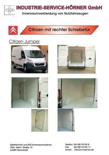 Citroen Jumper Prospekt-Hörner - INDUSTRIE SERVICE HÖRNER ...