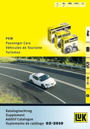 Katalognachtrag Supplement Additif Catalogue ... - Auto Land
