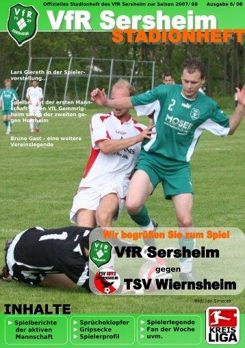 gegen - VfR Sersheim 1929 eV