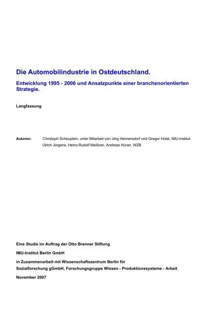 3 Die Automobilindustrie in Ostdeutschland - Otto Brenner Shop
