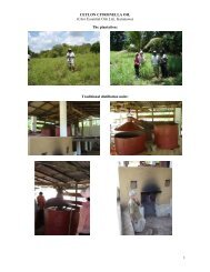 CEYLON CITRONELLA OIL (Citro Essential Oils Ltd ... - IFEAT