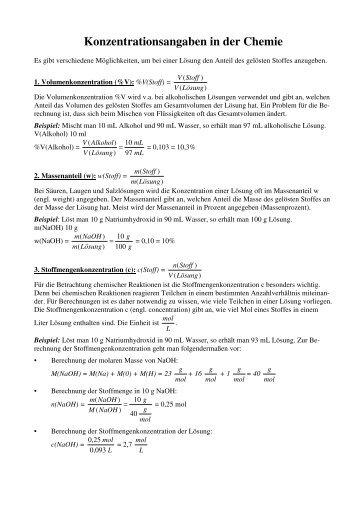 Konzentrationsangaben in der Chemie.pdf - Shelx