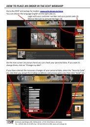 how to place an order in the echt webshop - ECHT Schmuck & Design