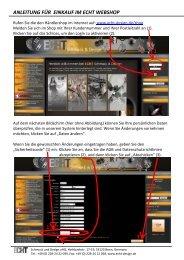 anleitung für einkauf im echt webshop - ECHT Schmuck & Design