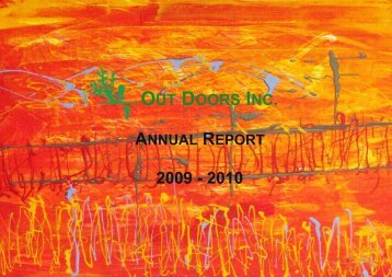 s – Annual Report 2009 -2010 - Out Doors Inc