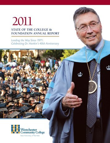 State of the College & foundation annual RepoRt - Westchester ...