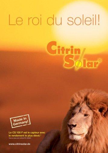 www.citrinsolar.de Le CS 100 F est le capteur avec le rendement le ...