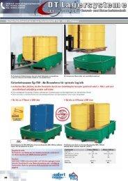 Sicherheitswannen aus Kunststoff für 200-l ... - DT Lagersysteme