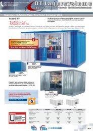 Typ WHG 340 Begehbare Gefahrstofflager Typ ... - DT Lagersysteme