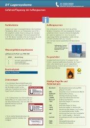 Gefahrstofflagerung mit Auffangwannen - DT Lagersysteme