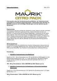 Gebrauchsanleitung: März 2010 Citronensäure dient der ...