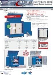 Gefahrstoffdepots Typ P2-S, für bis zu 4 Fässer à ... - DT Lagersysteme