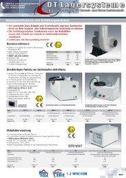 Absaugventilatoren und Entlüftungsaufsätze - DT Lagersysteme