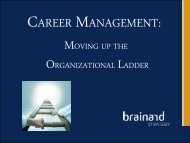 Career Management (PDF) - Brainard Strategy