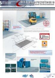 Bodenelemente aus Stahl zur Abdichtung ... - DT Lagersysteme